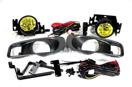 99-00 Honda Civic 2//4//3 door EK EM1 SI EX DX JDM Yellow Fog Light Kit Harness