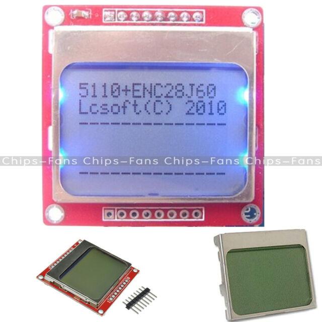 Weiß/blau 84 * 48 Nokia 5110 LCD Display Screen Modul Module für Arduino DIY