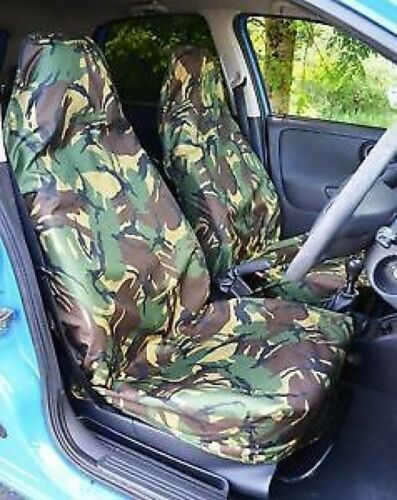 CAMOUFLAGE FRONT PAIR CAR SEAT COVER SET CAMO 12 on VAUXHALL COMBO VAN
