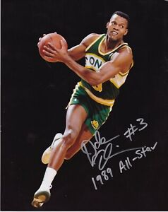 DALE ELLIS  SEATTLE SUPERSONICS  1989 ALL-STAR   ACTION SIGNED 8x10