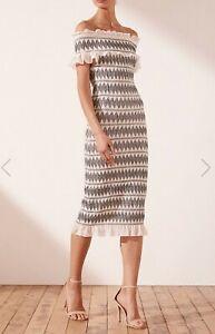 Shona-Joy-Salcedo-Shirred-Dress-Size-8