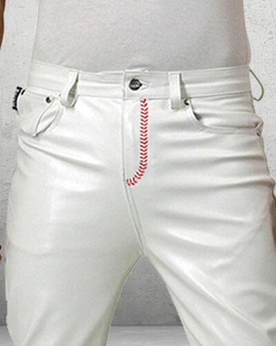 Bockle® Baseball Leather Boy Red Lederhose Lederjeans American Style BOCKLEDER