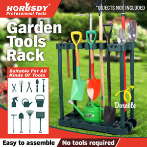 Rolling Garden Tools Storage Rack Long Short Handles Organizer Holders Fits 40