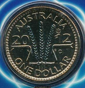2012 Australia Mens Australian Open $1 Unc coin on card