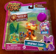 National Geographic Animal Jam Sparkle Tiger and Light Up Ring New