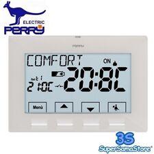 PERRY ELECTRIC 1CRCR308G   CRONOTERMOSTATO PARETE GIORNALIERO BIANCO