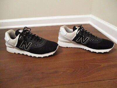 free shipping 09ffe 57b61 Used Worn Size 13 New Balance 574 Re-Engineered Shoes Black White   eBay