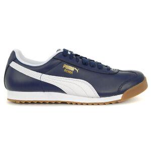 PUMA Men's Roma Classic Gum Peacoat/Puma White Shoes 36640807 NEW!