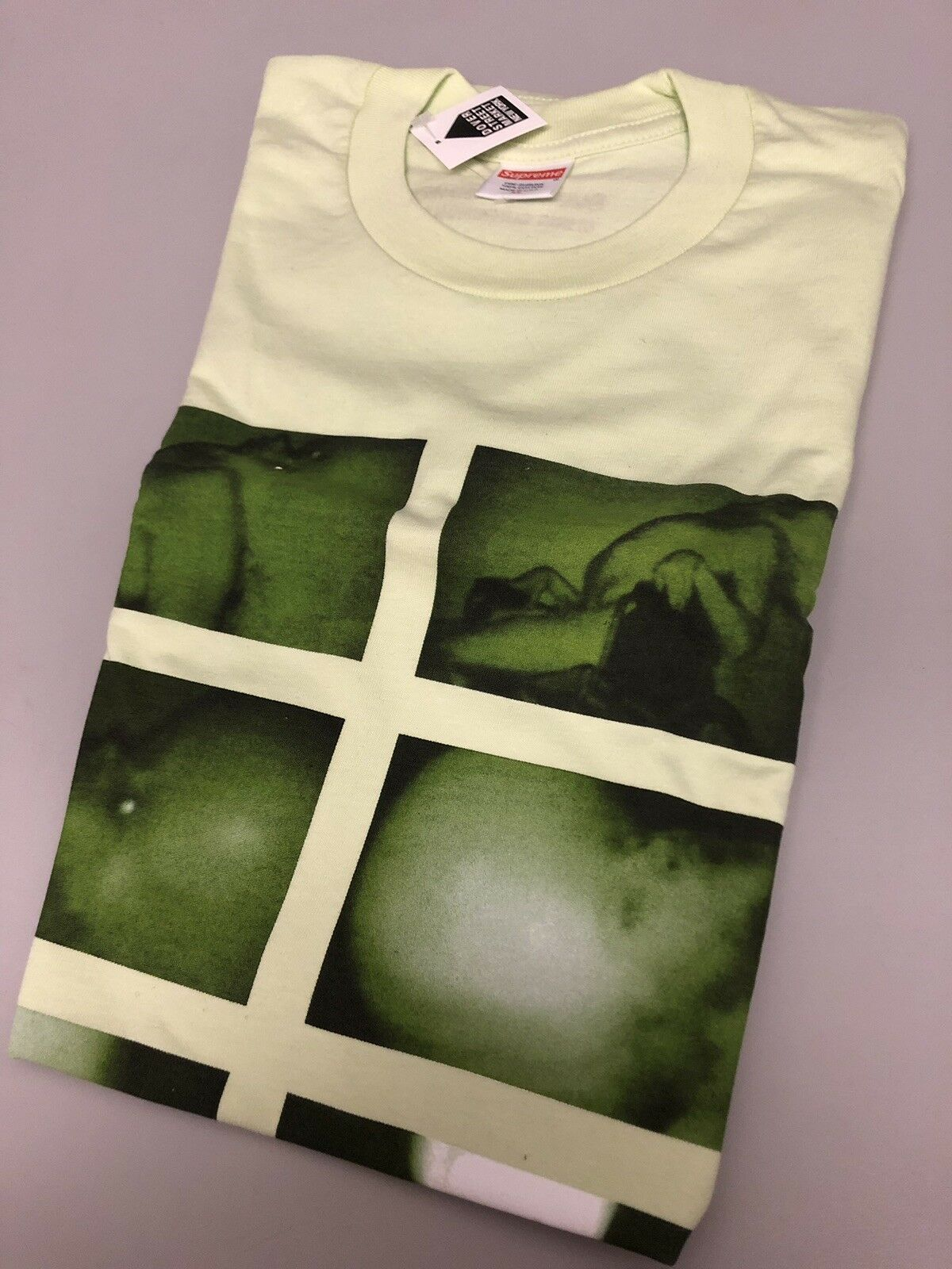 SUPREME CHRIS CUNNINGHAM RUBBER JOHNNY TEE SHIRT PALE MINT XL XLARGE FW18