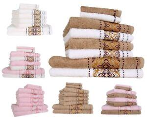 8tlg Set Handtücher Duschtücher Gästetuch 500g/m²  Baumwolle Frottee