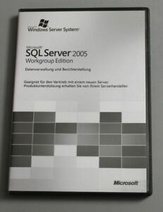Microsoft SQL Server 2005 Workgroup Edition - 5 Clients, Deutsch - inkl. MwSt