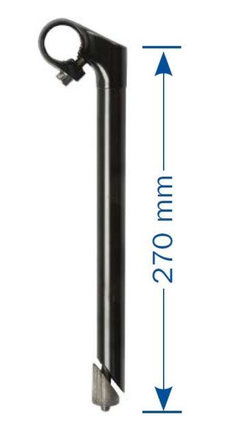 Lenkervorbau 1 Zoll verstellbar f/ür Langlaufrad 1-1//8 Zoll Vorderradgabel 4-1//3 Zoll Verl/ängerung Schwarz