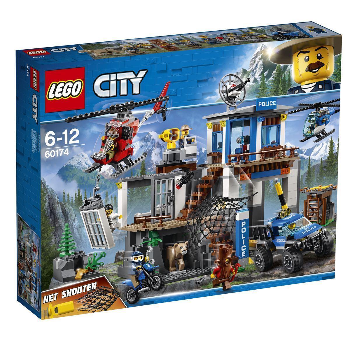 LEGO ® City Police 60174-quartier generale della polizia di montagna centrale