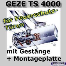GEZE TS 4000 Türschliesser mit Gestänge + Montageplatte silberfarbig