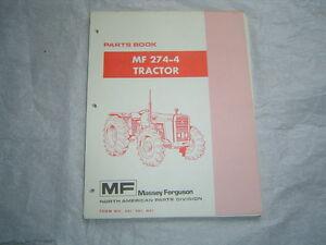 massey ferguson mf274 4 mf 274 4 4wd tractor parts book catalog rh ebay com massey ferguson 274 manual Massey Ferguson Tractor Parts Diagram