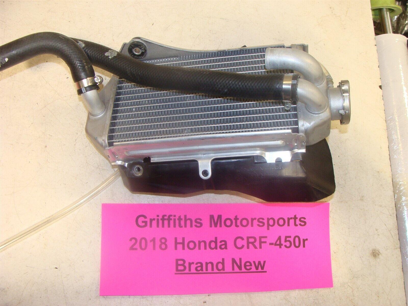 HONDA CRF450R CRF 450R RIGHT SIDE R RH RADIATOR 17 18 NEW OEM FILL