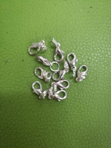 20pcs dull silver color lobster clasps with split jump rings jewerly findings