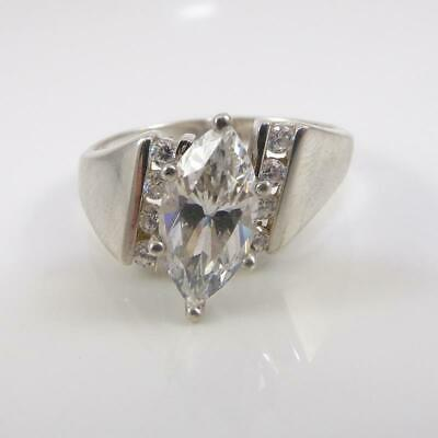 Real 925 Sterling Silver Women/'s Wedding Engagement Ring or Band Diamonique CZ