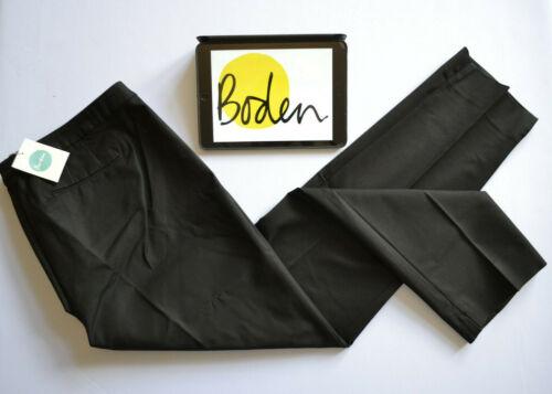 BODEN Twickenham Trousers Pants 7//8 Leg Black Cotton Tapered Sz 22R W42-44 L31