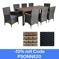 Polyrattan Sitzgruppe inkl. Kissen für 8 Pers. 2 Farben