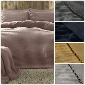 Fusion-Ribbed-Teddy-Bear-Bedding-Fleece-Duvet-Cover-Set-Cosy-Super-Soft-Fluffy