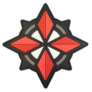 Resident Evil USS Umbrella Security Op Raccoon City PVC rubber 3D hook patch