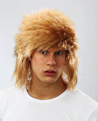 Ginger Shaggy Wig Jon Bon Jovi Rock Style Fancy Dress Rocker Messy Hair New