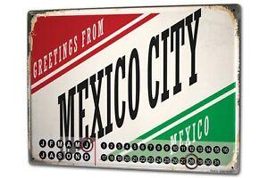 Perpetual-Calendar-Retro-Art-Metropole-Mexico-City-Tin-Metal-Magnetic