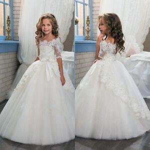 Flower Girl Dress Bridesmaid Wedding Communion Party Prom Princess Pageant