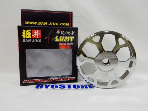 SNOWFLAKE SILVER BAN JING CLUTCH BELL // DRUM FOR 150cc GY6 CHINESE SCOOTERS