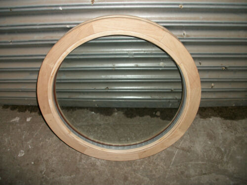 595mm Diameter Unglazed with Bead Hardwood Round Window Will Take a 24mm Unit