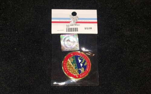 Awesome USMC Unites States Marine Corps Veteran Challenge Coin NEW once always