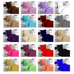 luxus 2 tlg bettw sche bettgarnitur baumwolle renforce 135x200cm uni einfarbig. Black Bedroom Furniture Sets. Home Design Ideas