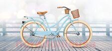 "26"" Women's Cruiser Bike Bicycle Beach Huffy Ladies Deluxe Basket Drink Holder"