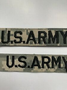 MILITARY US ARMY PATCH FOR ACUS DIGITAL HOOK AND LOOP NAME TAPE WITH ERVIN