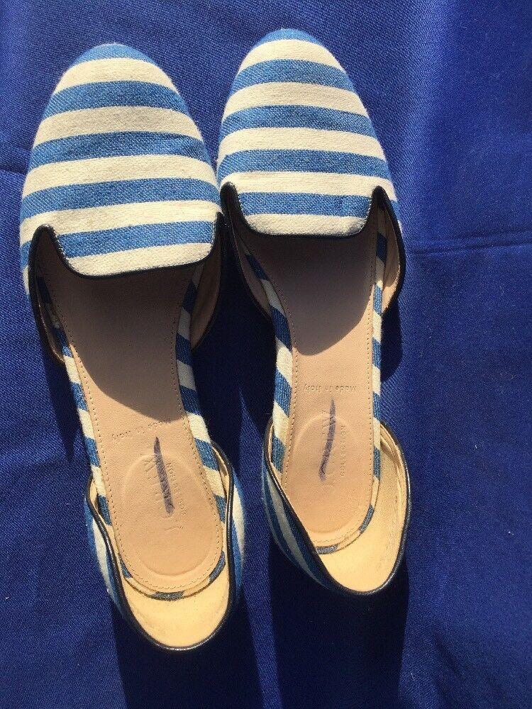 SALE @ J CREW Loafers UNIQUE STRIPED Espadrilles Ballet Flats Damenschuhe Schuhes Sz 6