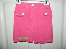 GYMBOREE girls Pink Embroidered Green TURTLE Shorts* 3T 3