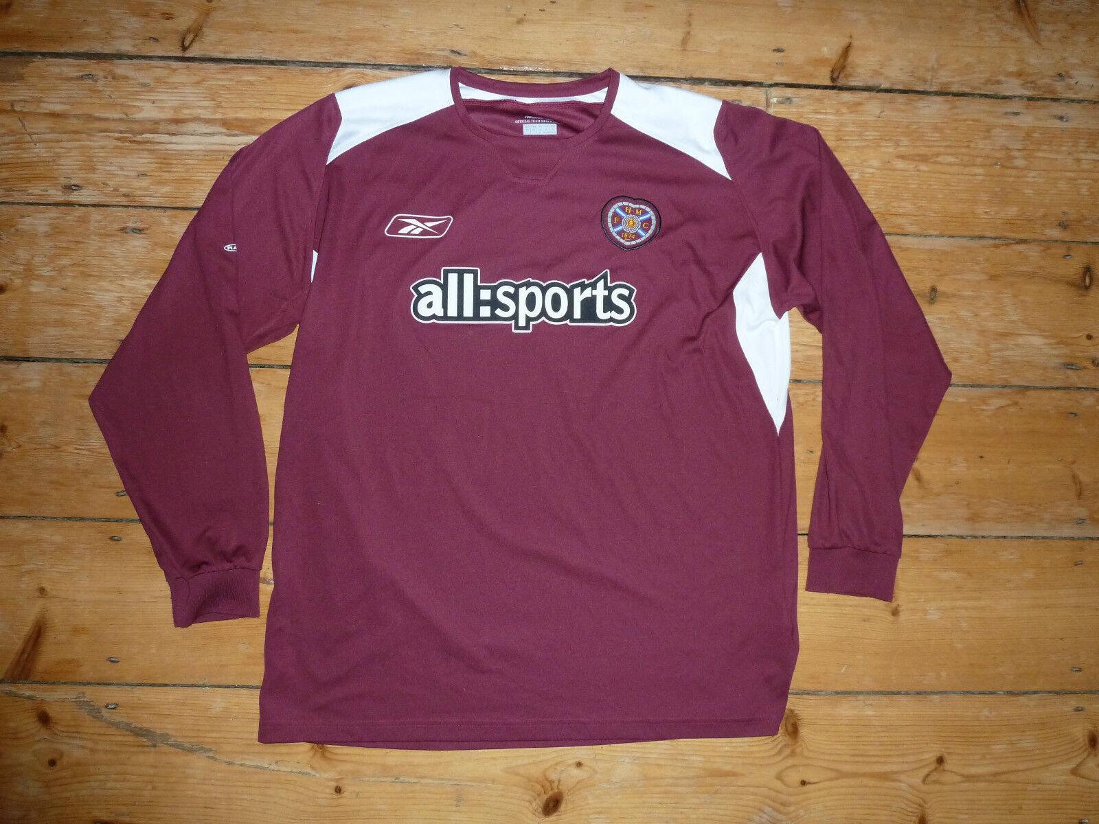 TAMAÑO  XL Heart Of Midlothian Camiseta de Fútbol Jambos 2004L S