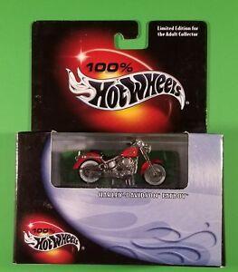100 Hot Wheels Harley Davidson Fatboy Red Ebay