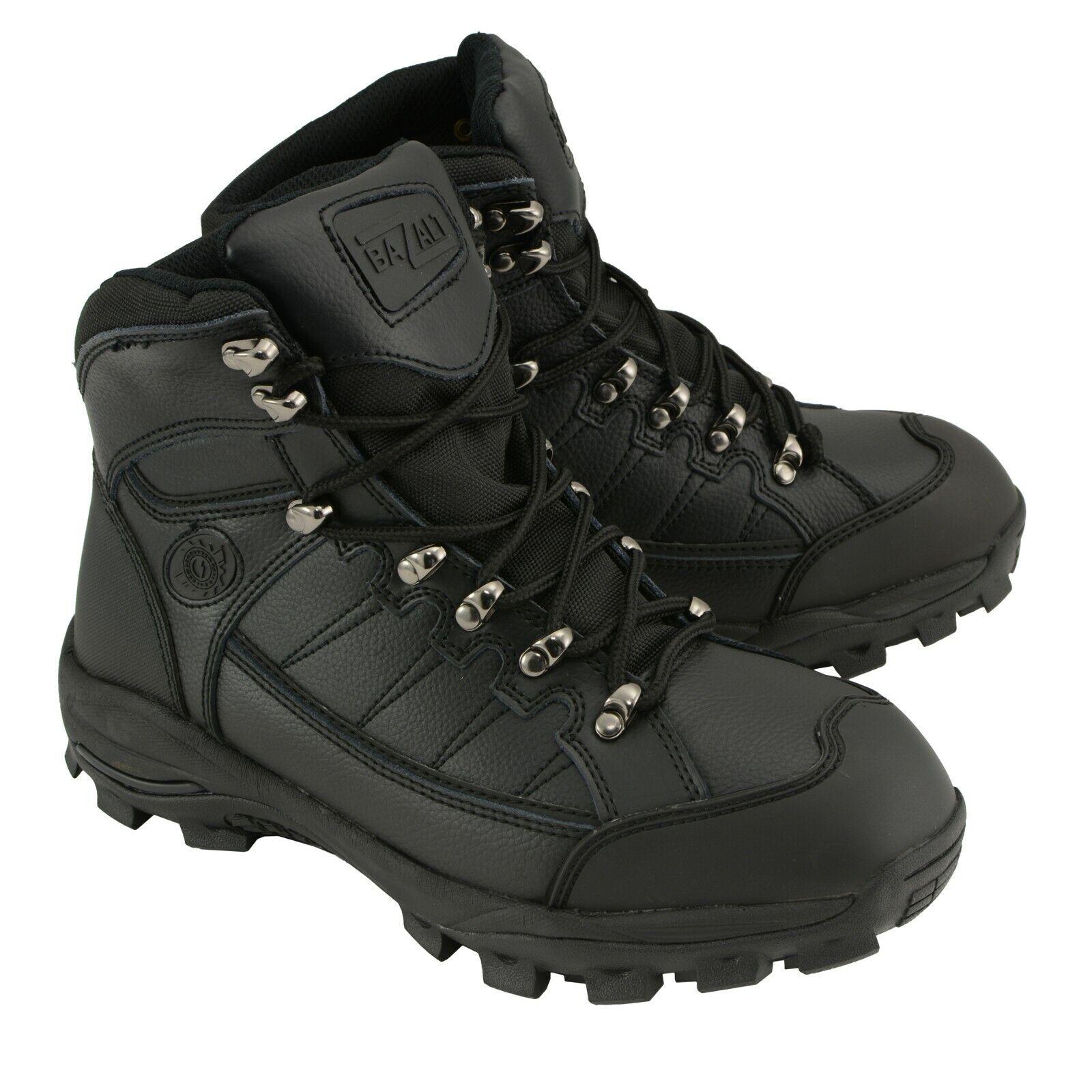 Para Hombre Negro botas De Cuero a Prueba de Agua y las heladas con Composite Toe  MBM9129ST