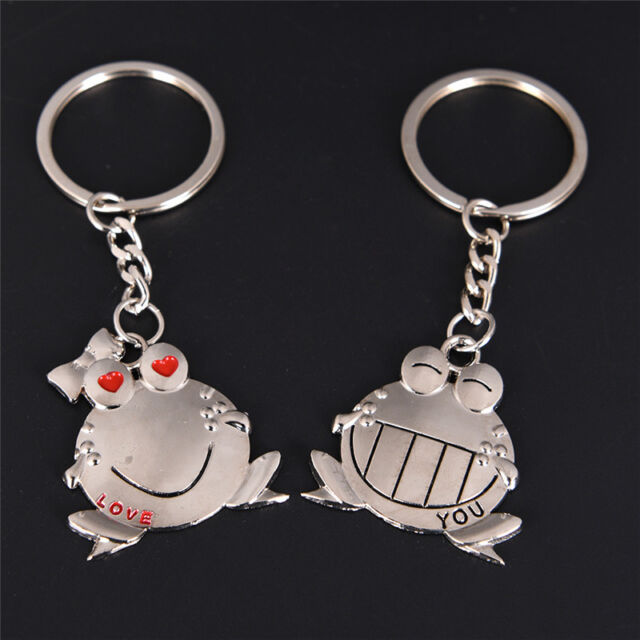 Couple Key Chain Cute Frog Pendant Lovers Keychain Keyring Ring Keyfob Gift@@