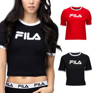 170f9022dc8 Image is loading NEW-FILA-WOMEN-Tionne-Crop-Tee-FWASW003