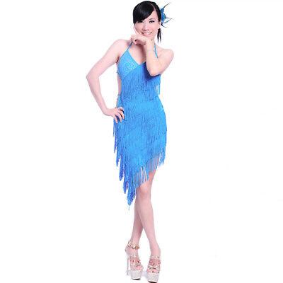 L16 Latein kleid Turnierkleid Tanzkleid Fransenkleid 6 Farben