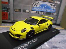 PORSCHE 911 991 GT3 RS Carrera 2014 acid green gelb Minichamps limited 1:43