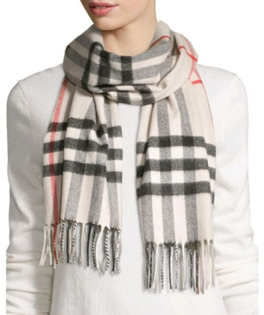 6ded6ddb590c Burberry Heritage Stone Check Cashmere Scarf 3954673 for sale online ...