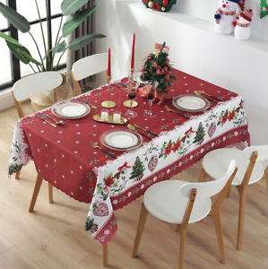 Christmas Tablecloth Chair Cover Waterproof Dining Table Cloth Home Decor Ebay