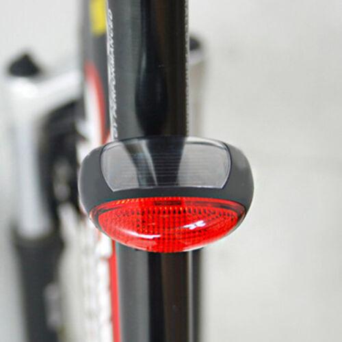 Cyclisme VTT Solaire Eclairage Phare Lampe Vélo Feu Arrière Lumière LED Cadeau