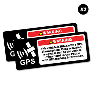 2X-Warning-Gps-Alarm-System-Sticker-Decal-Safety-Sign-Car-Vinyl-5469K