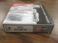 NEW CHAMPION DOUBLE PLATINUM SPARK PLUGS RC12PYP # 7071 PACK OF 4