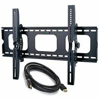Tilting Wall Mount Bracket For Samsung 30 - 85 +hdmi Cable